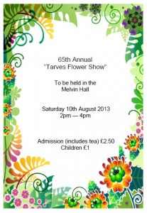 Tarves Flower Show 2013