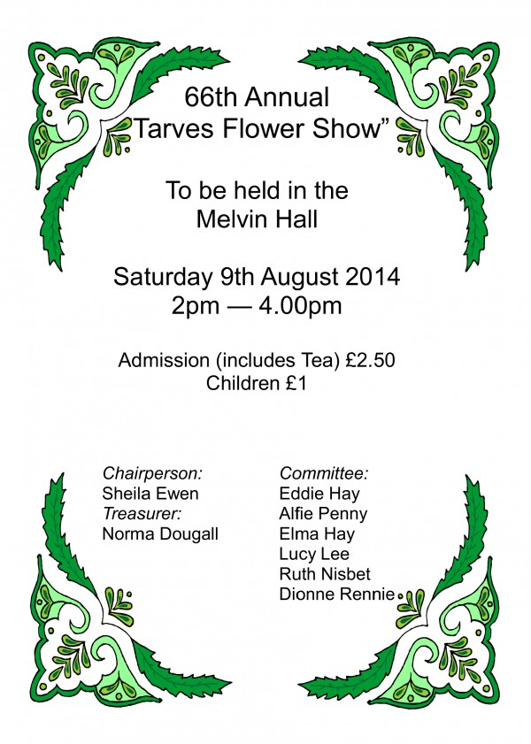 Tarves Flower Show-front