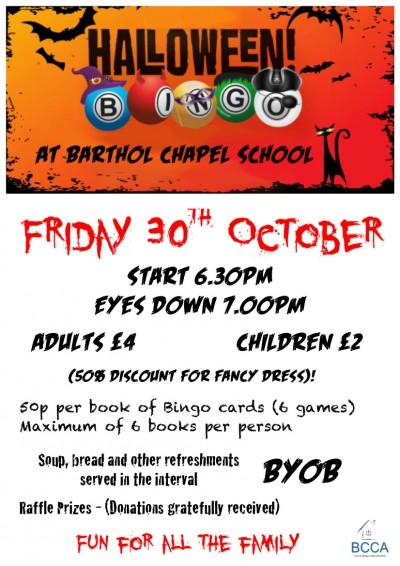 2015 Halloween Bingo Poster