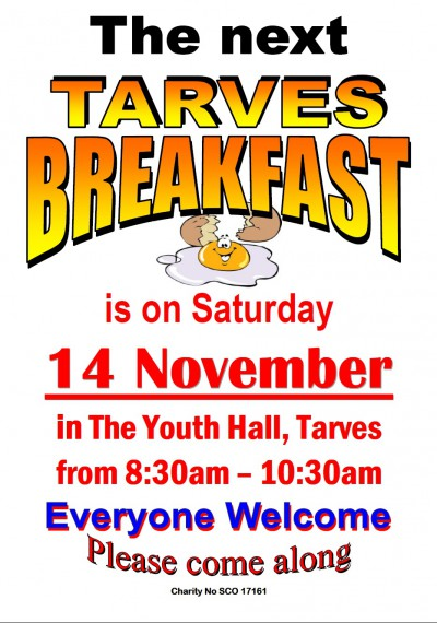 Tarves breakfast-Nov2015