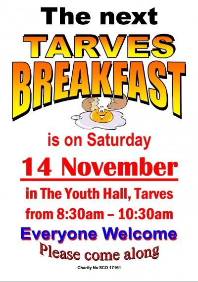 Tarves breakfast-Nov2015