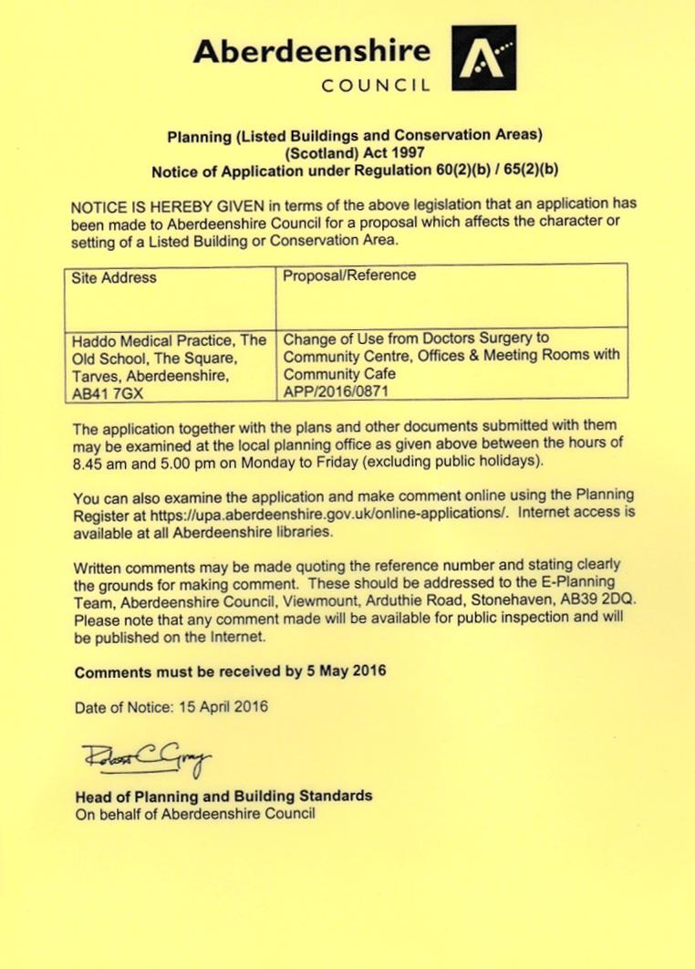 Planning Public Notice April 2016
