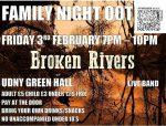 MUSIC LIVE AT UDNY GREEN – BROKEN RIVERS – 3rd FEB 2017